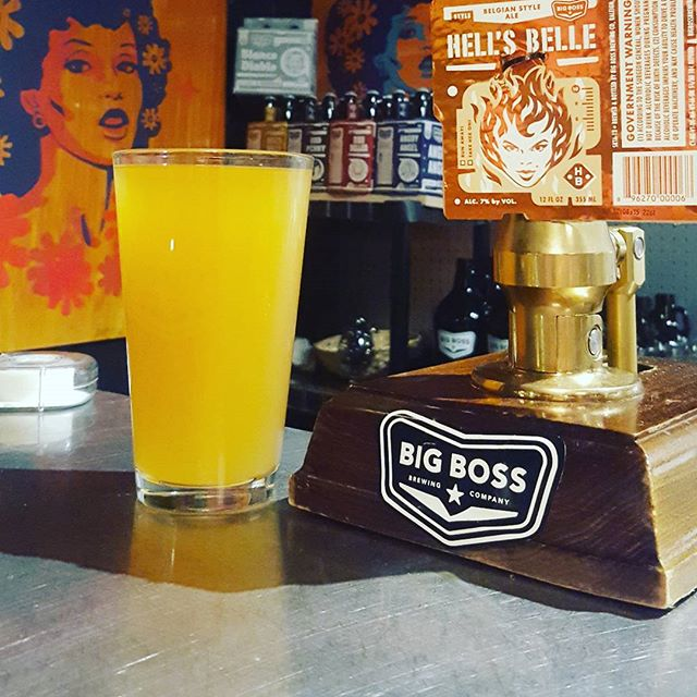 CASK NIGHT: Hell's Belle with Ginger!! After pop the cap legislation, #HellsBelle a 7% Belgian Golden was a novelty to the #NCBeer scene.  Highlighting the Forbidden Fruit yeast, this week's #bigbosstaproom cask and #tbt is in honor of this citrusy, dry brew. #bbbtaproom #cask #caskbeer