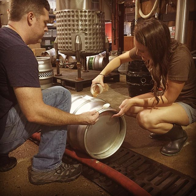 @bobbymcinerny82 and @lovely_ritaa_ rack another cask for the fifth annual #Casktoberfest event on Oct 1st!  We will post the beer line up shortly, until then visit Casktoberfest.com for updates!