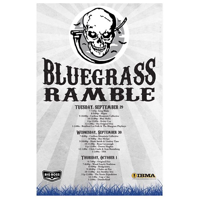 RAMBLE on with fantastic #bluegrass artists tonight through Thursday @thepourhouse and enjoy brews from yours truly while you listen to tunes from the banjo!  A great kick off to the week of IBMAs in #dtr ! #ncbeer  #bluegrassramble