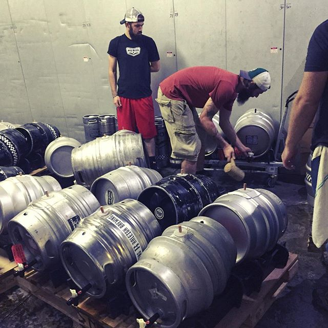 43 casks have been tapped and now...we wait.  Some may consider this the perfect weather for enjoying a few #caskales so don't let a little rain stop you from venturing out to the fifth annual #Casktoberfest !  1249 Wicker Drive- See you in a couple of hours! #ncbeer