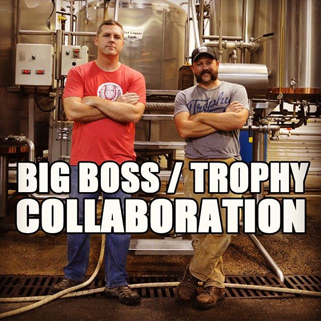 The brewers of @bigbossbrewing & @trophybrewing are working hard this Friday. A #collaboration between #raleigh breweries will produce a #WhiteIPA! Keep following for updates and release info! #ncbeer #drinklocal