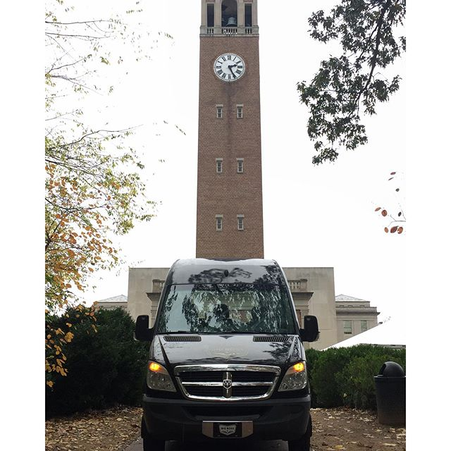 We found a great parking space for the big game.  Hopefully this rain will let up.  #uncbelltower #tailgatetower #ncbeer #unchomecoming