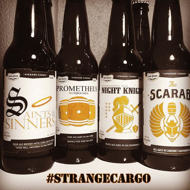 "Winston-Salem people! The Triad debut of the Big Boss #StrangeCargo bottle series will happen at JuggHeads Growlers & Pints on Wednesday, December 2nd! Bourbon, wine & foudre aged ales make up our ""Strange Cargo"" series, small batch bottle releases. The 2015 line up are on the way and we invite you to join Big Boss staffers there on Wednesday for these and a line up of recent beers on tap including #battledragon, #airsupport IPA #highroller IPA Miss Fitz"