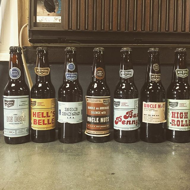 Cleaning day at the brewery - check out these old labels! #10years #vintagebeer #unclenuts