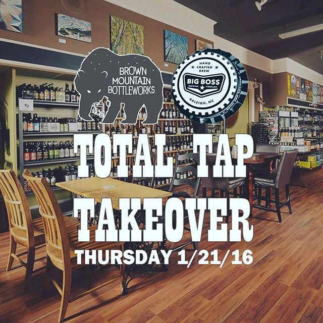 Join us @brownmtnbottleworks this Thursday 01/21/16! #ncbeer