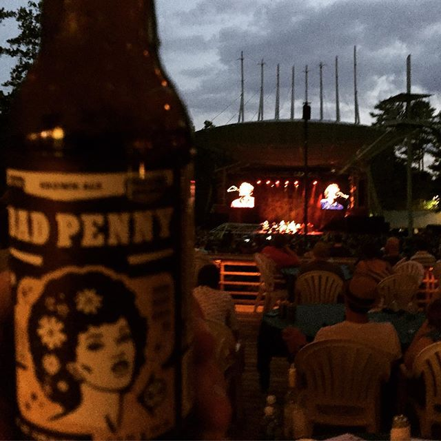 You guys are awesome. We sold through the entire stock of our beer before the concert started! Enjoy the #flightoftheconchords #cary.  @booth_amp #drinklocal #badpenny #ncbeer #raleigh #craftbeer
