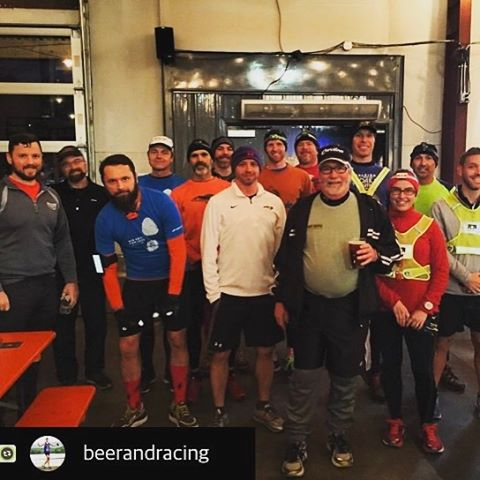 A little ice and darkness won't stop a few members of our run club from enjoying some miles on the greenway. Our normal runs return this Sunday at 12pm. See you all there!  #raleigh #beerrunning #running