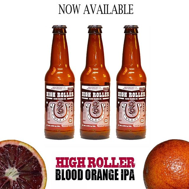 A zesty version of our IPA is now available.  If you do not see #bloodorange High Roller IPA please ask your retailer for it!  New to our year round line up of six pack brews! #ncbeer #craftbeer #ipa #raleigh