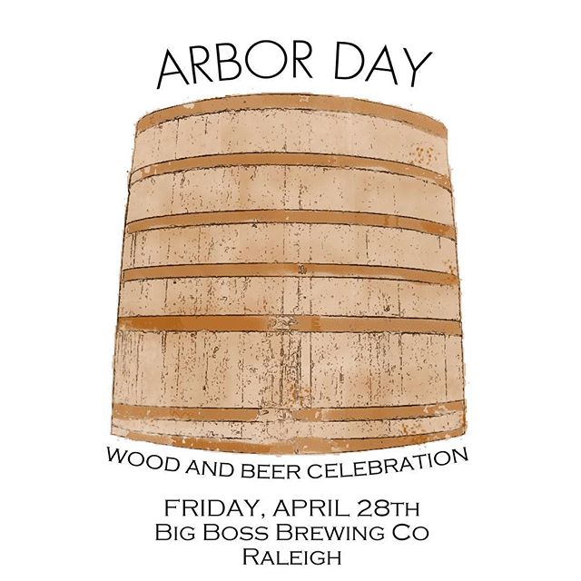 We chose 04/28, Arbor Day, to tap 10 of our oak aged beers! Foedre, bourbon and wine barrel beers from the #strangecargo series!  Saints & Sinners sour, Brett Belle, space Mistress Saison, 2&6 dubbel and many more to be introduced for the first time this weekend.  RSVP on our Facebook page. #ncbeermonth #ncbeer #woodandbeer