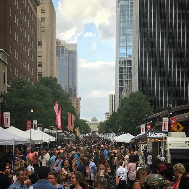 Some of y'all were thirsty today for the @shoplocalraleigh @brewgalooraleigh. The NC Beer scene is incredible! Thanks for making it fun! #ncbeermonth #brewgaloo #craftbeer #raleigh