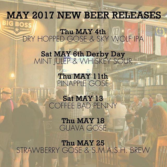 New beers in the taproom this month! Gose variants, pilot brews, IPA + derby beers! #ncbeer #gose #derbydays #derby #sourbeer