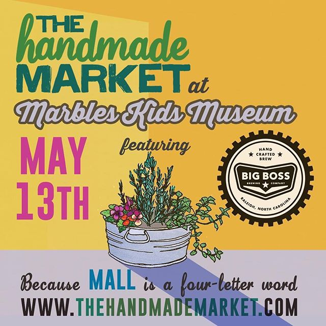 Next Saturday at @marblesraleigh shop independent artisan crafters with us! @handmademarketnc #ncbeer
