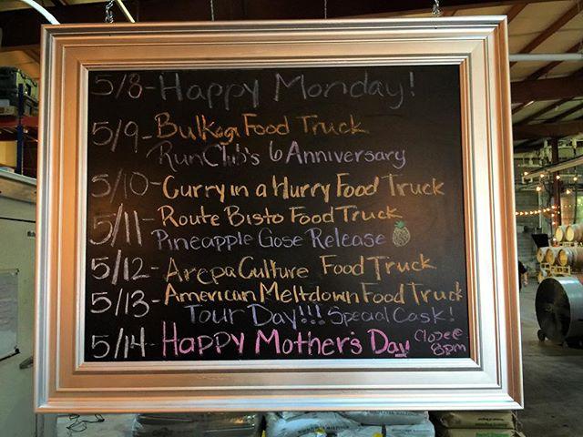 This week's food truck schedule: