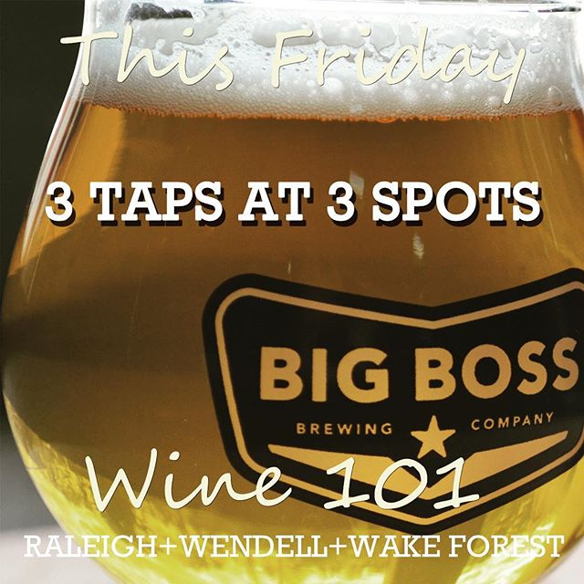 Looking forward to a great event...or three. See you all there. #wine101 #wendell #wakeforest #raleigh