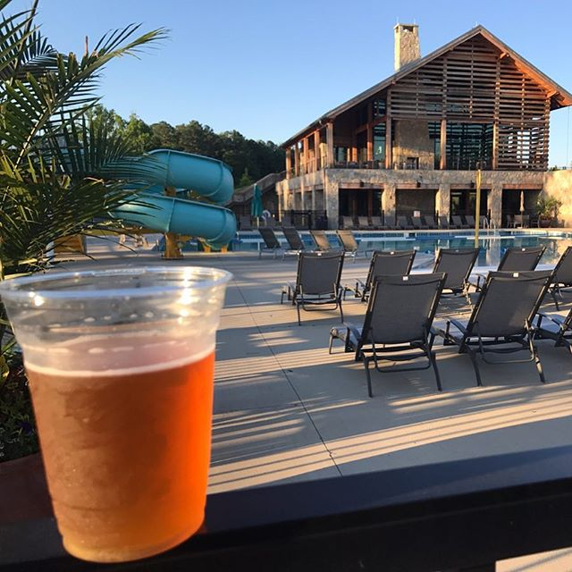 Beautiful night at @groundscafe  in @wendellfallsnc for a #bloodorangeipa and a walk around the lake. #wendell #raleigh #ncbeer #craftbeer