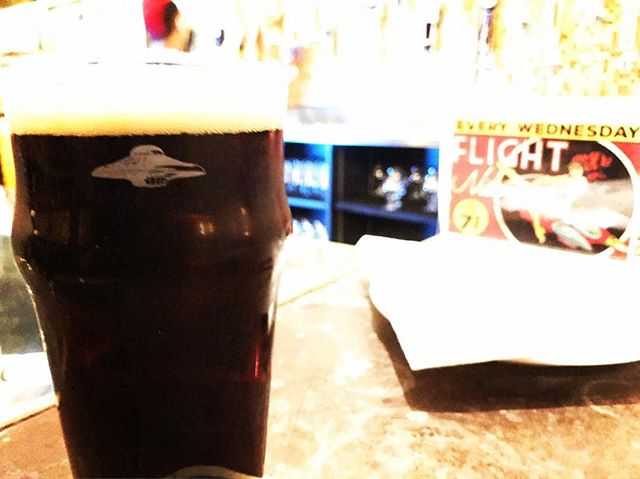 Some adult trivia and delicious Bad Penny to tap off your night @flyingsaucerraleigh. #roundthree #raleigh #drinklocal #craftbeer #brownale #beerknurd #ncbeer #flyingsaucer