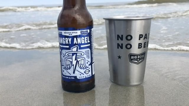Pair your day at the beach or lake with this angel. #ncbeer #beachbeer #drinklocal #obx #crystalcoast #Wilmington #craftbeer