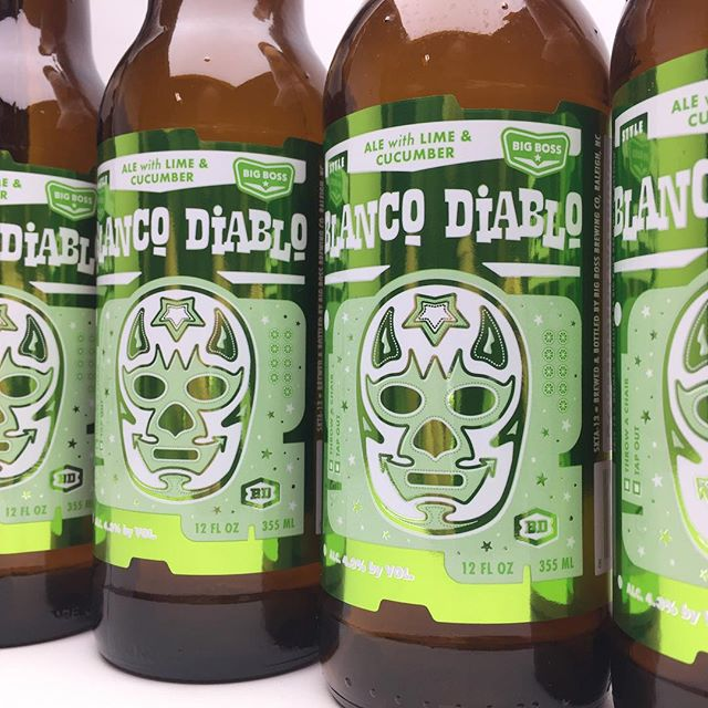 A  witbier unlike any other! Blanco Diablo Cucumber & Lime is now available in bottles! Pair with tacos, seafood, salads and the rest of the summer!  #cukeandlime #ncbeer
