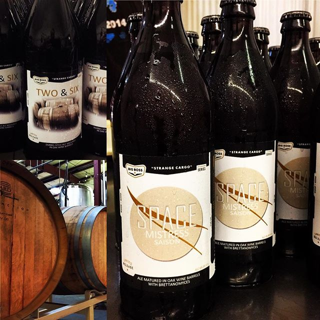 Today we are making two 500ml bottles available for the first time! Barrel aged ales from the #strangecargo series: 2&6 Dubbel and Space Mistress Saison.  Only 10 cases of each.  Bottles for first come first serve.  #ncbeer #woodandbeer  #brettanomyces