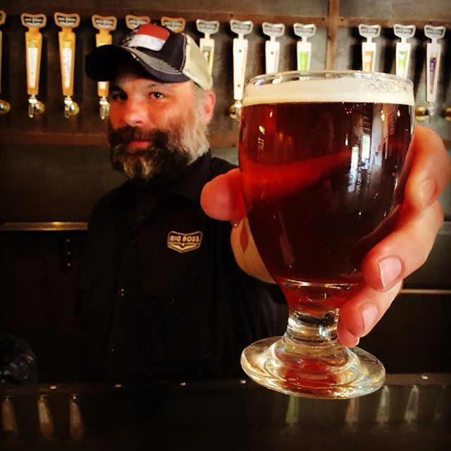 Now pouring in @big_boss_taproom a pilot system lager brewed & served by our own Weese! #ncbeer #pilotsystem #lager