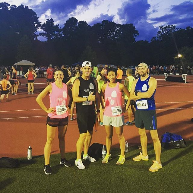 A huge shoutout to the four runners who represented the Big Boss Run Club tonight at the @sirwaltermiler. Thanks for representing! #raleigh
