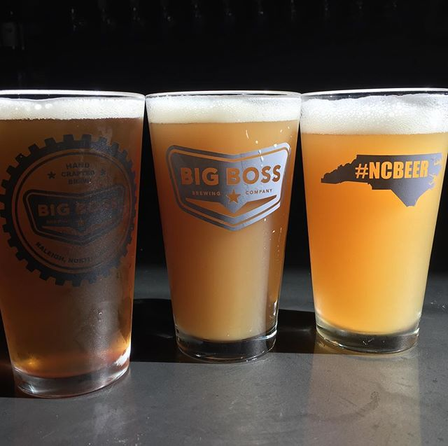 Our @big_boss_taproom forecast is mostly cloudy - 2 New England style IPAs & #BloodOrange High Roller #ncbeer #hazebeer