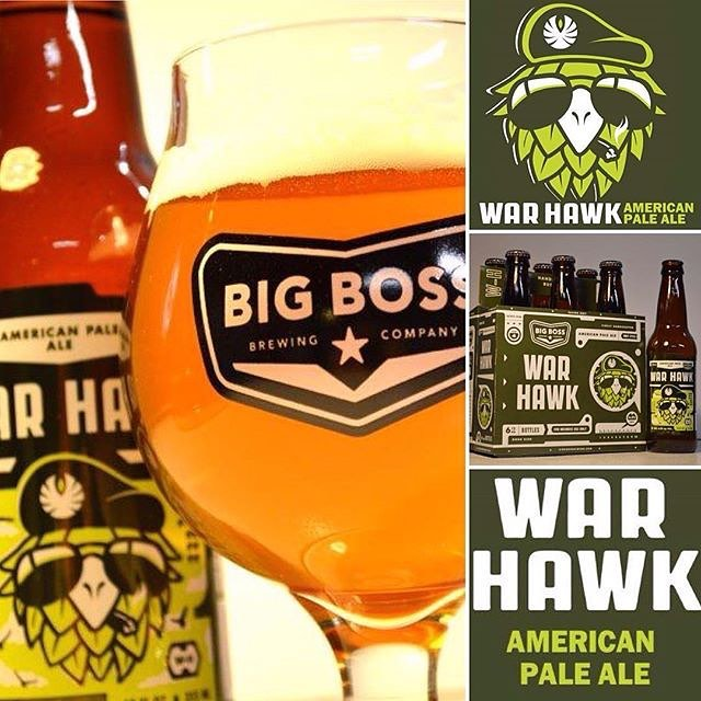 Launching this one in the new year but we couldn't help but slip on a keg here @big_boss_taproom!  WarHawk APA is back w original Amarillo recipe! #ncbeer #warhawk #raleigh