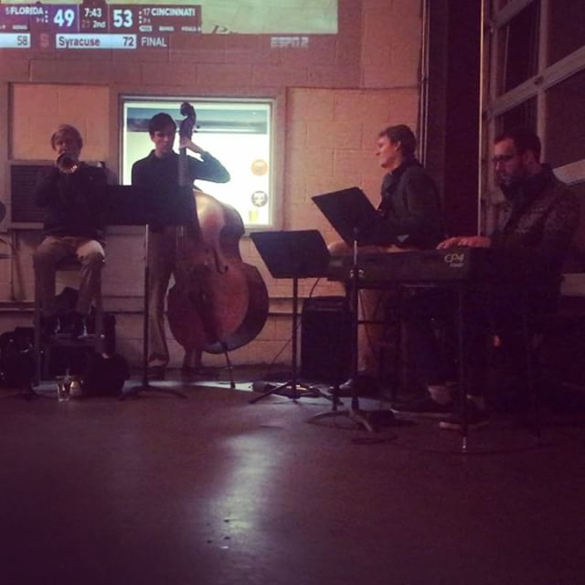 Thrilled to have the @ncstate Jazz Combo in the house with us tonight. #ncstate #raleigh #jazz #supportthearts