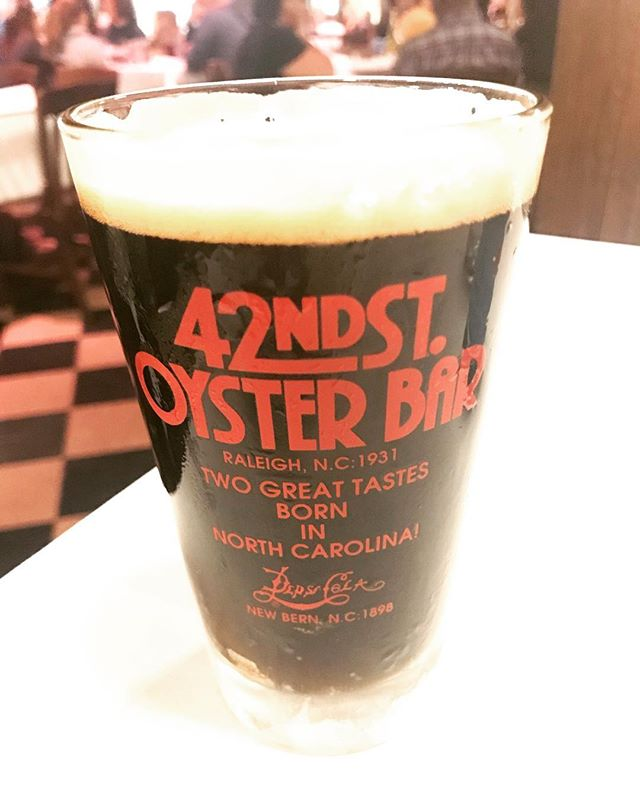 Get it while it lasts! Stop by @42ndstoysterbar for Aces and Ates Coffee Stout using delicious liquid from @larryscoffee. #raleigh
