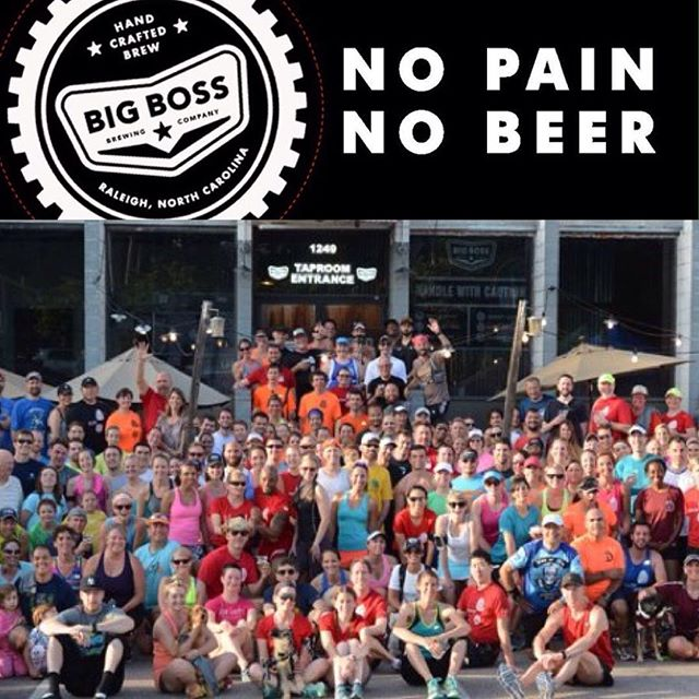 Only a few weeks left for winter Run Club!  We meet each Sunday at noon and hit the Raleigh greenway.  In March, after daylight savings time switch, we will start back up on Tuesdays.  Find our Big Boss Run Club page on Facebook for up to the minute reports! #ncbeer #runclub #nopainnobeer
