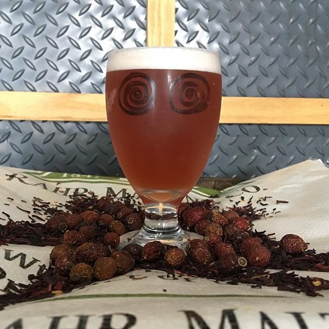 Gaze deeply into this beer's eyes and you may just find yourself HIPNOTIZED. This week's small batch release is a gose that gets its pink hue from rose hips and hibiscus flowers. We also added pink peppercorns for a spicy, floral flavor that perfectly balances the tart fruitiness of this sessionable sour ale. Tapping a new #pilotsystem batch each and every Thursday, we open at 3! #ncbeer #craftbeer #smallbatch