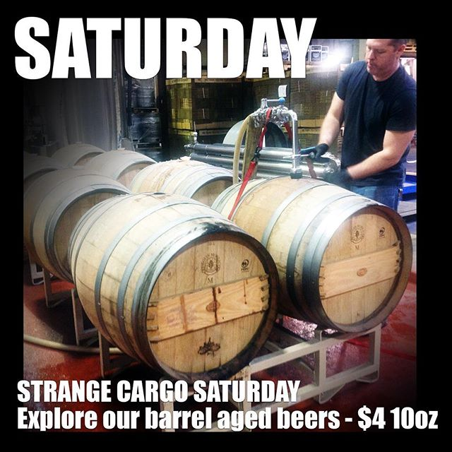Big day at the brewery with Wordsky Designs anniversary event this afternoon, barrel aged ales on tap for you to explore and #uncvsduke game on later tonight! #ncbeer #strangecargo #marchmadness https://www.facebook.com/events/201553290429574/?ti=icl