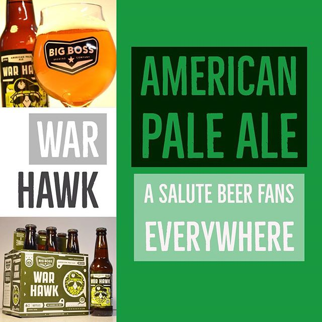 It's #WarHawk American Pale Ale season and we are extending that season through April! Featuring a generous portion of dank, delicious Amarillo hops for a bold bitter finish. #ncbeer #paleale